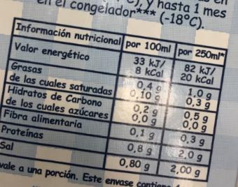Una ventaja es poder saber los componentes nutricionales
