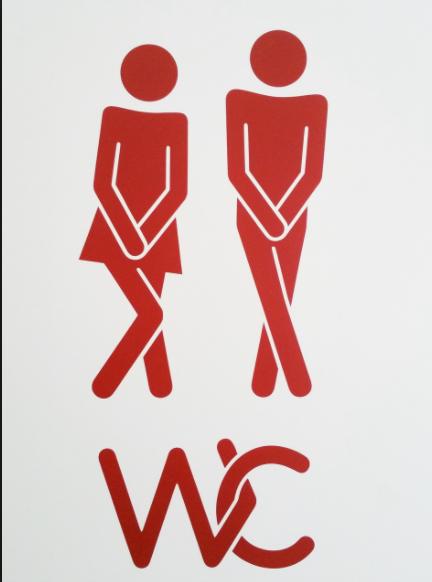 """En su (lavado de) mano está evitar ir al baño""""juntitos"""""""